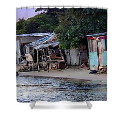 Liliput Craft Village And Bar Shower Curtain