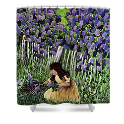 Lillian's Lilacs Shower Curtain by Jennifer Lake