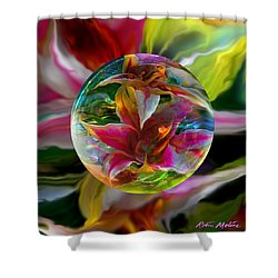 Lillium Bulbiferum Shower Curtain