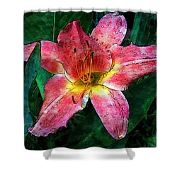 Lilly Of The Rain Shower Curtain