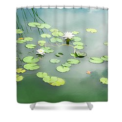 Shower Curtain featuring the photograph Lilly Pads by Erika Weber