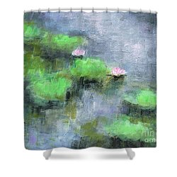 Water Lilly's  Shower Curtain by Frances Marino