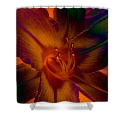 Shower Curtain featuring the photograph Lily Colors by WB Johnston