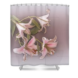 Lily Shower Curtain by Elaine Teague