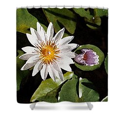 Lily Flowers Shower Curtain