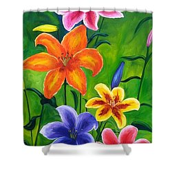 Lily Garden Shower Curtain