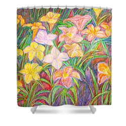 Lily Glow Shower Curtain by Kendall Kessler