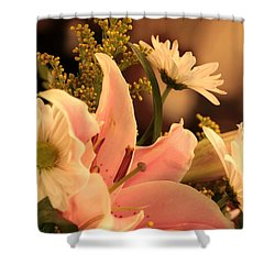 Lily In Pink Shower Curtain