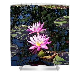 Lily Monet Shower Curtain by Eric  Schiabor