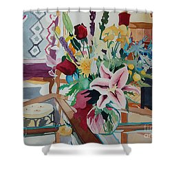 Lily Still Life Shower Curtain