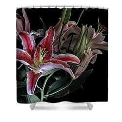 Lily The Pink Shower Curtain by Wayne Sherriff