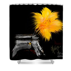 Lily Yellow Shower Curtain