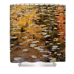 Lilypads And Reflection-h Shower Curtain