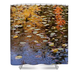 Lilypads And Reflection Shower Curtain