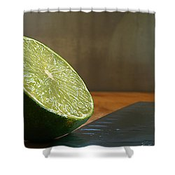 Shower Curtain featuring the photograph Lime Blade by Joe Schofield