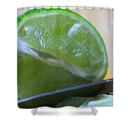 Lime Shower Curtain by Dan Sproul