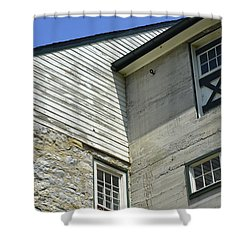 Lime Valley Mill Corner View Shower Curtain