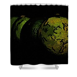 Limes Shower Curtain by Tommytechno Sweden