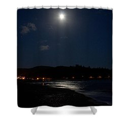Lincoln City Moonlight Shower Curtain by John Daly