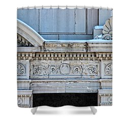 Lincoln County Courthouse Door Arch Shower Curtain