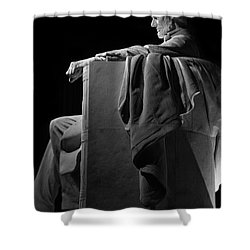 Lincoln In Black And White Shower Curtain