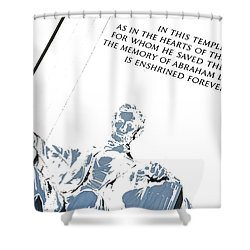 Lincoln In Shades Of Grey Shower Curtain