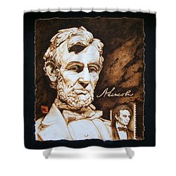 Lincoln Memorial And The Younger Shower Curtain by Cynthia Adams