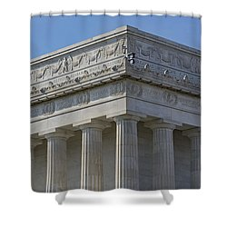Lincoln Memorial Columns  Shower Curtain by Susan Candelario