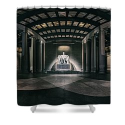 Lincoln Memorial Shower Curtain by Eduard Moldoveanu