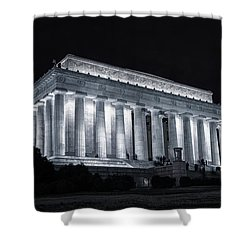 Lincoln Memorial Shower Curtain by Joan Carroll