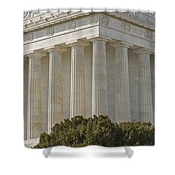 Lincoln Memorial Pillars Shower Curtain by Susan Candelario