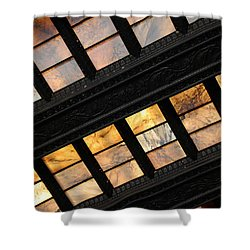 Lincoln Memorial Stained Glass Shower Curtain