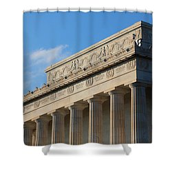 Lincoln Memorial - The Details Shower Curtain