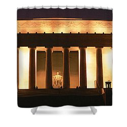 Lincoln Memorial Washington Dc Usa Shower Curtain by Panoramic Images