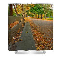 Lincoln Park Bench In Fall Shower Curtain