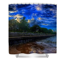 Lincoln Park Sunset Shower Curtain