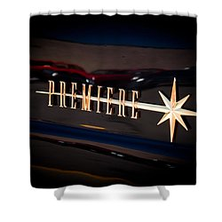 Shower Curtain featuring the photograph Lincoln Premiere Emblem by Joann Copeland-Paul