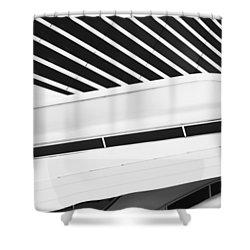 Line Form Shower Curtain by Jack Zulli