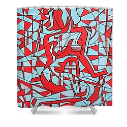 Lined Girl Shower Curtain
