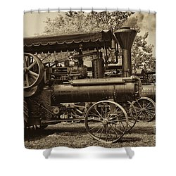 Lined Up To Work Shower Curtain by Paul W Faust -  Impressions of Light