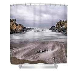 Lines In The Sand Shower Curtain