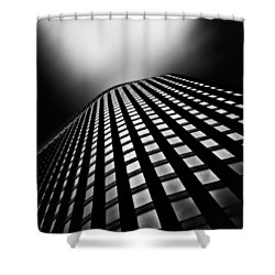 Lines Of Learning Shower Curtain by Dave Bowman