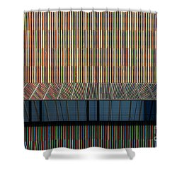 Lines - Pop Shower Curtain by Hannes Cmarits