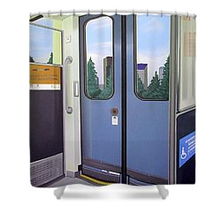 Link Light Rail Seattle Shower Curtain by Jude Labuszewski