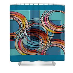 Links Shower Curtain by Ben and Raisa Gertsberg