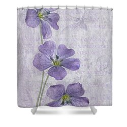 Linum Shower Curtain by John Edwards