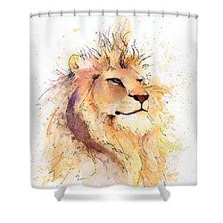 Lion 3 Shower Curtain by Arleana Holtzmann