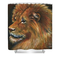 Shower Curtain featuring the painting Lion by Alga Washington