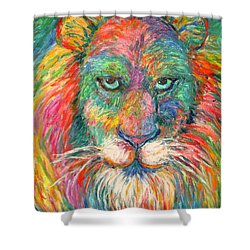 Lion Explosion Shower Curtain