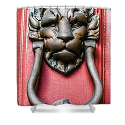 Lion Head Door Knocker Shower Curtain